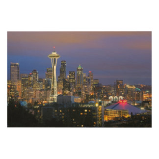 Seattle seen from Kerry Park in Queen Anne Wood Wall Art