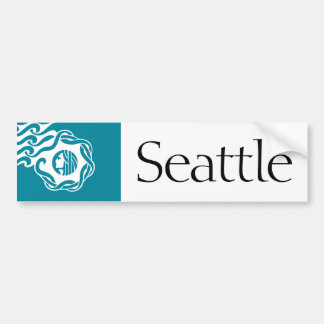 Seattle simplified city flag bumper sticker