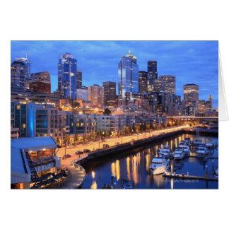 Seattle skyline and harbor, Washington State Cards