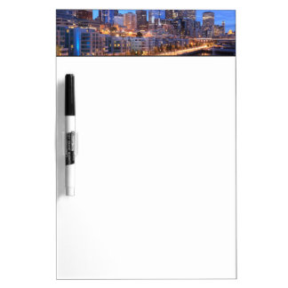 Seattle skyline and harbor, Washington State Dry Erase Board
