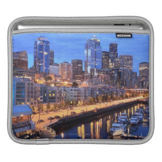 Seattle skyline and harbor, Washington State iPad Sleeve
