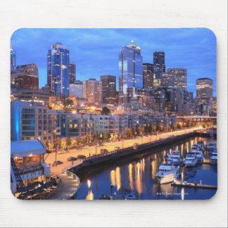 Seattle skyline and harbor Washington State Mouse Pad
