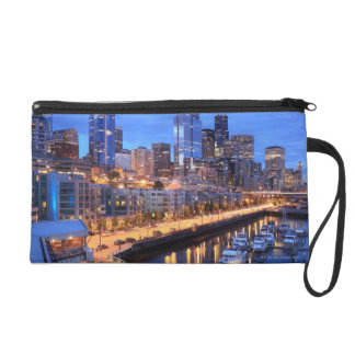 Seattle skyline and harbor, Washington State Wristlet