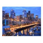 Seattle skyline and harbour, Washington State Postcard