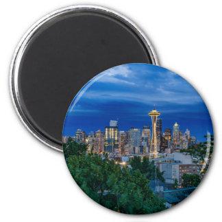 Seattle Skyline at Dusk Magnet