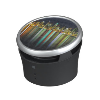 Seattle skyline at night with reflection bluetooth speaker