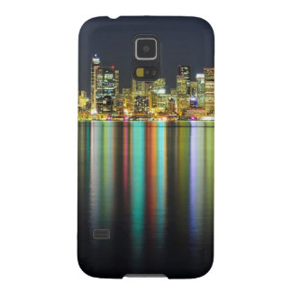 Seattle skyline at night with reflection cases for galaxy s5