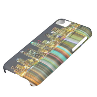 Seattle skyline at night with reflection iPhone 5C case