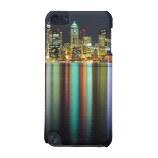 Seattle skyline at night with reflection iPod touch 5G cover