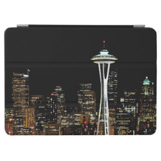 Seattle skyline at night, with Space Needle. iPad Air Cover