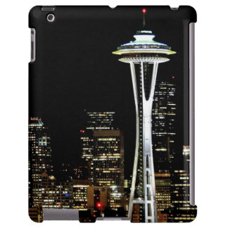Seattle skyline at night, with Space Needle. iPad Case