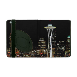 Seattle skyline at night, with Space Needle. iPad Cover