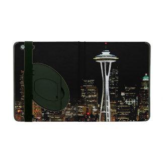 Seattle skyline at night, with Space Needle. iPad Folio Case