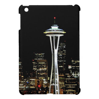 Seattle skyline at night, with Space Needle. Cover For The iPad Mini