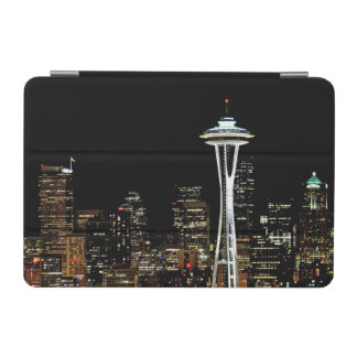 Seattle skyline at night, with Space Needle. iPad Mini Cover