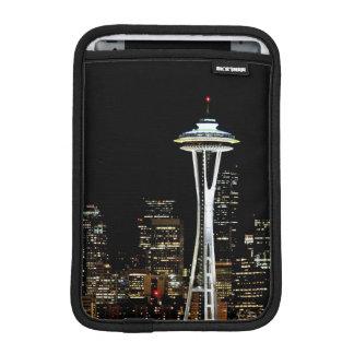 Seattle skyline at night, with Space Needle. iPad Mini Sleeve