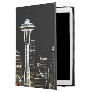 "Seattle skyline at night, with Space Needle. iPad Pro 12.9"" Case"