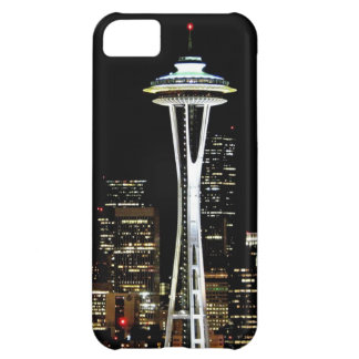 Seattle skyline at night, with Space Needle. iPhone 5C Case