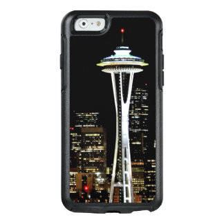 Seattle skyline at night, with Space Needle OtterBox iPhone 6/6s Case