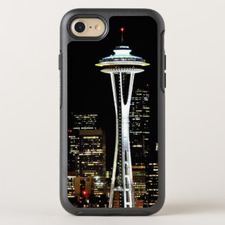 Seattle skyline at night, with Space Needle OtterBox Symmetry iPhone 8/7 Case