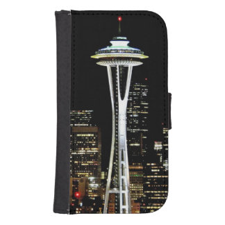 Seattle skyline at night, with Space Needle. Samsung S4 Wallet Case