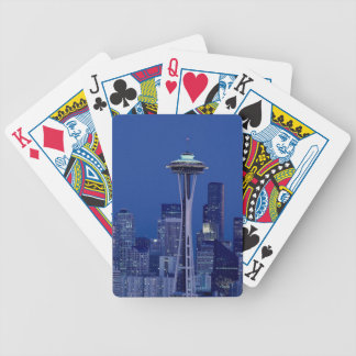 Seattle skyline bicycle playing cards