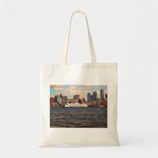 Seattle Skyline Budget Tote Bag