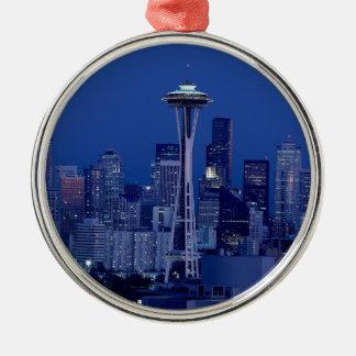 Seattle skyline christmas ornament