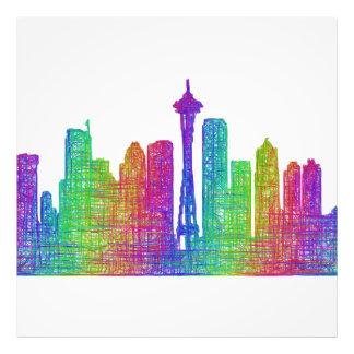 Seattle skyline photo print