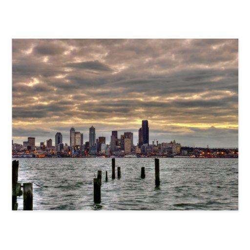 Seattle Skyline Postcards