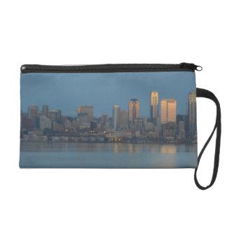 Seattle skyline wristlet clutches