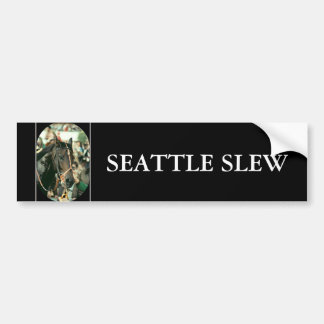 Seattle Slew Thoroughbred 1978 Bumper Sticker