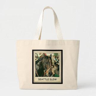 Seattle Slew Thoroughbred 1978 Jumbo Tote Bag