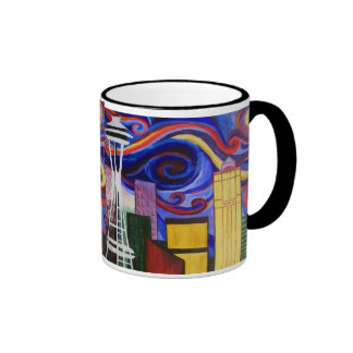 Seattle Swirl Ringer Mug