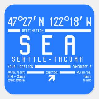 Seattle-Tacoma Airport Code Square Sticker