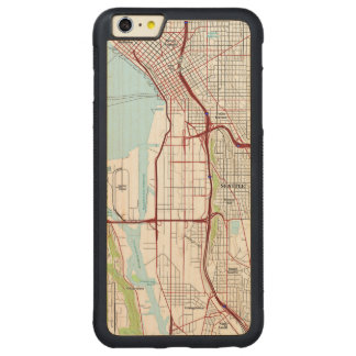 Seattle Topographic City Map Carved® Maple iPhone 6 Plus Bumper Case
