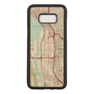 Seattle Topographic City Map Carved Samsung Galaxy S8+ Case