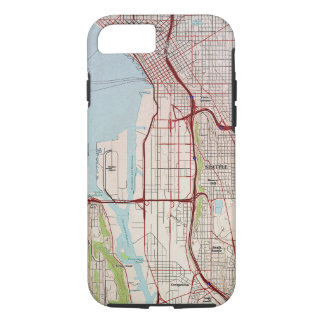 Seattle Topographic City Map iPhone 7 Case