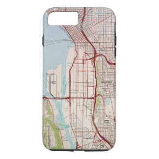 Seattle Topographic City Map iPhone 7 Plus Case