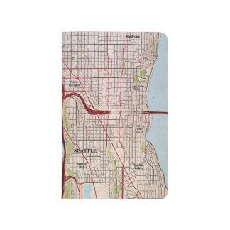 Seattle Topographic City Map Journals