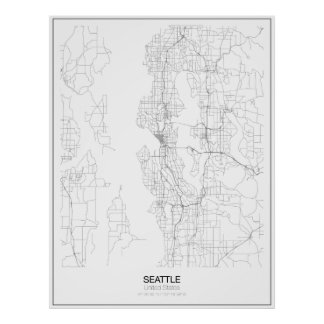 Seattle, United States Minimalist Map Poster
