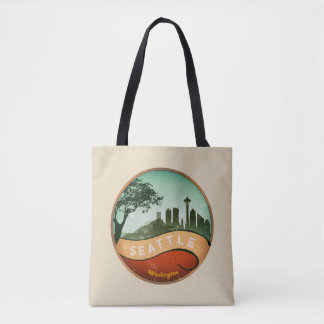 Seattle Vintage skyline Tote Bag