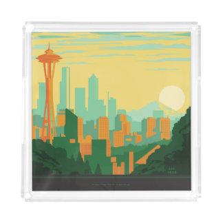 Seattle, WA Acrylic Tray