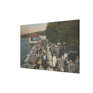 Seattle, WA - Boardwalk at Alki Point Canvas Print