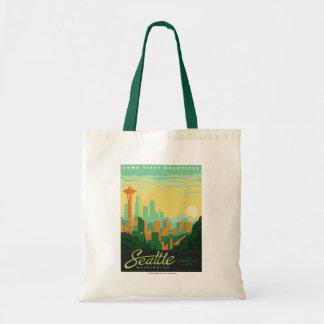 Seattle, WA Budget Tote Bag