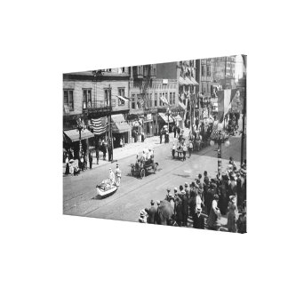 Seattle WA Forth of July Parade on Seneca Stretched Canvas Prints