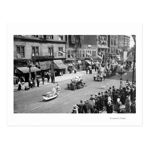 Seattle, WA Forth of July Parade on Seneca Postcard