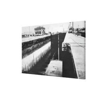 Seattle, WA - Lake Washington Ship Canal Stretched Canvas Print