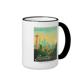 Seattle, WA Ringer Mug