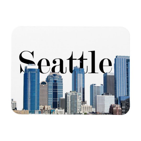 Seattle WA Skyline with Seattle in the Sky Magnet